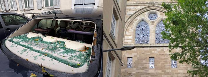 Image d'illustration pour Orages de grêle : de gros dégâts dans le Centre-Est