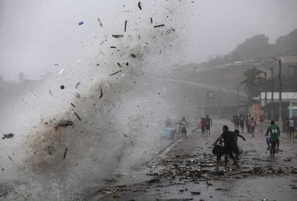passage de la tempête ISAAC à Haïti