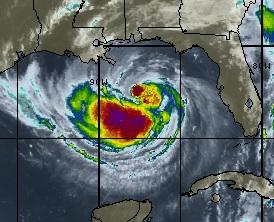 tempête tropicale ISAAC dans le Golfe du Mexique