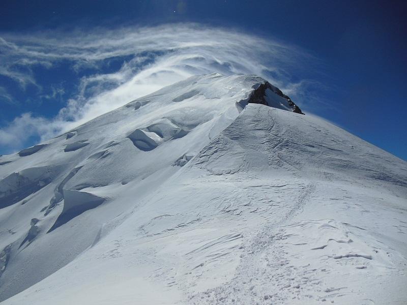 Image d'illustration pour L'altitude du Mont Blanc dépend du vent et des précipitations
