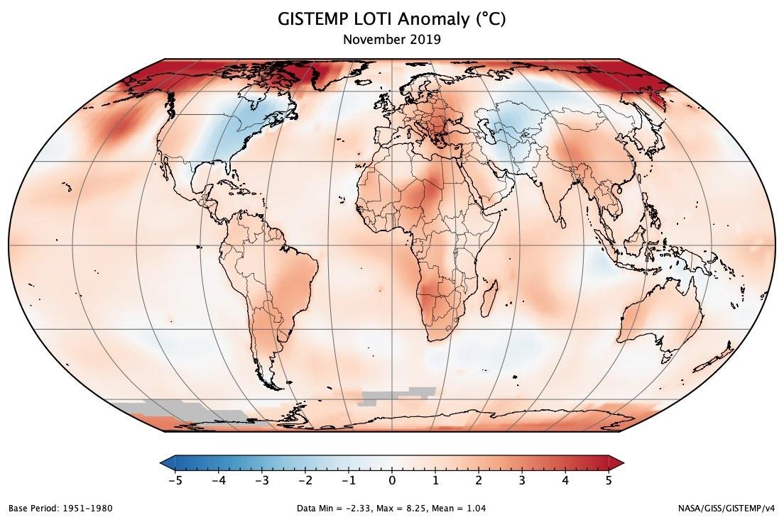 Image d'illustration pour Novembre 2019, 2ème le plus chaud dans le Monde