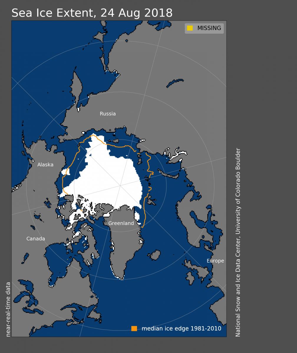 Image d'illustration pour Ralentissement de la fonte de la banquise Arctique : pas de record en 2018