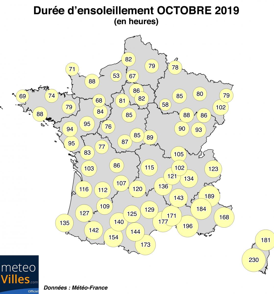 Image d'illustration pour Bilan d'octobre 2019 en France : doux mais très humide !