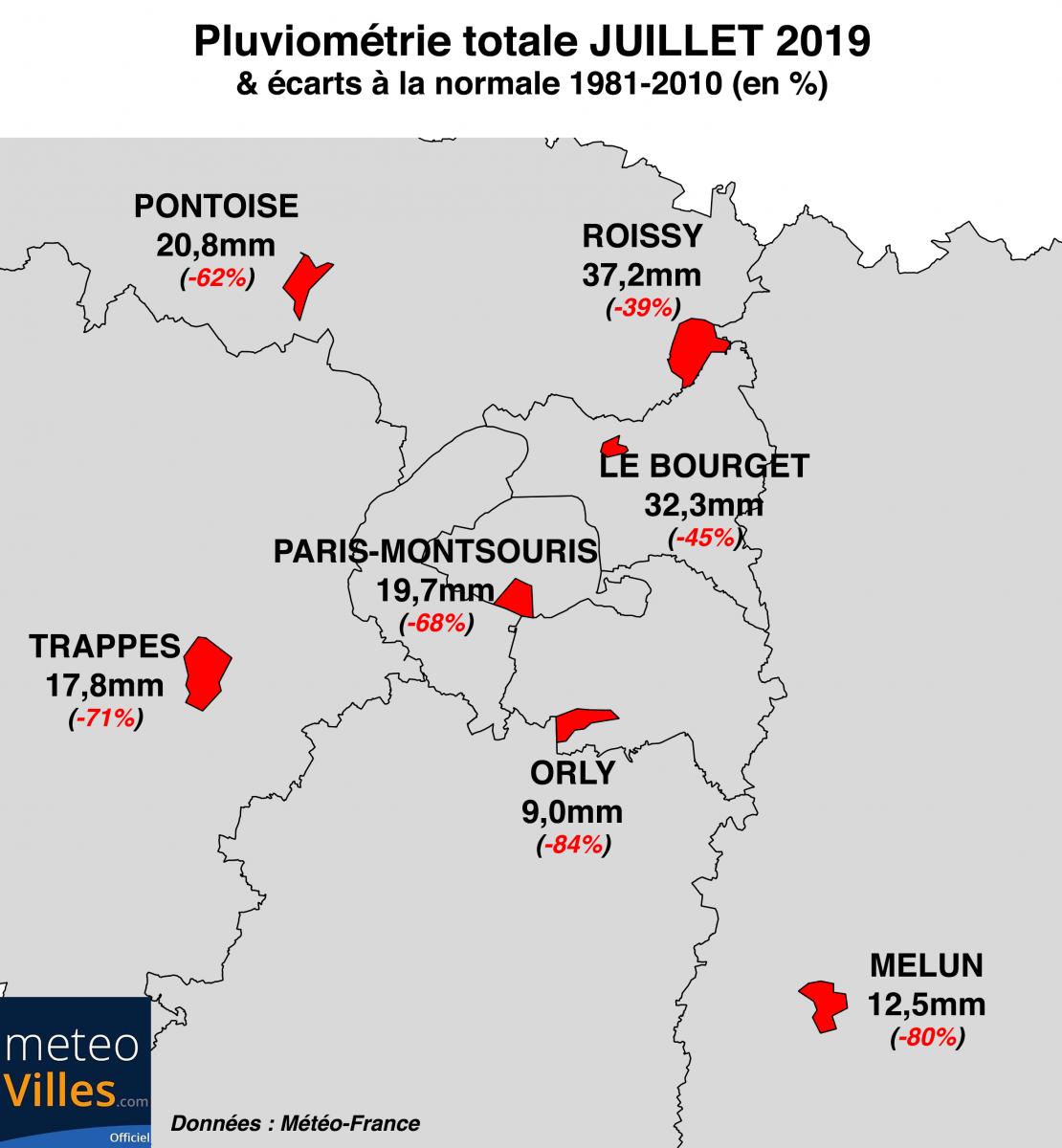 Image d'illustration pour Bilan météo de juillet 2019 à Paris et en Ile-de-France