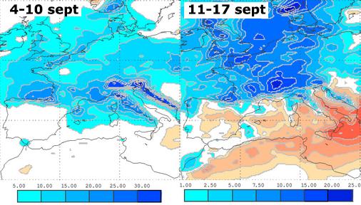 Image d'illustration pour Prévision mensuelle : persistance de contrastes en Septembre ?
