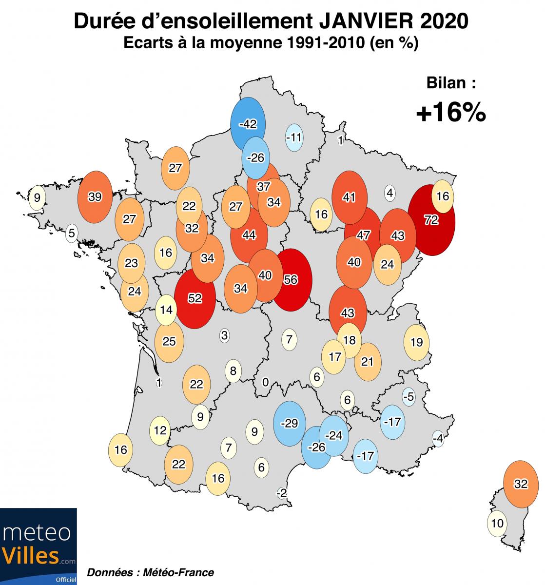 Image d'illustration pour Douceur généralisée : le bilan du mois de janvier 2020