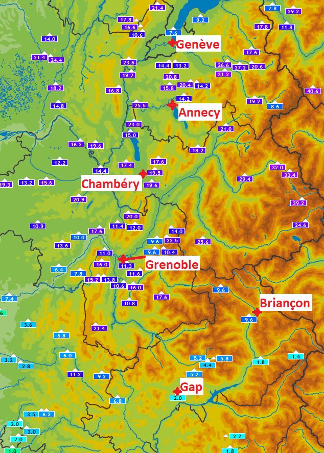 Image d'illustration pour Episode pluvieux conséquent dans les Alpes - Bilan