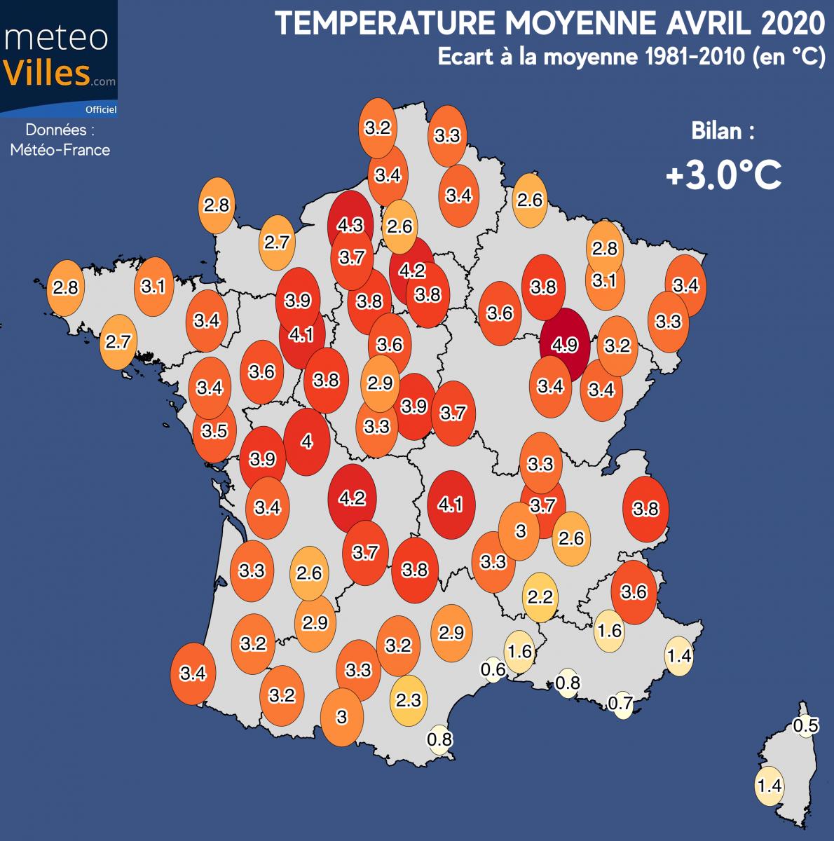 Image d'illustration pour Avril 2020 en France : sur le podium des plus doux depuis 1900