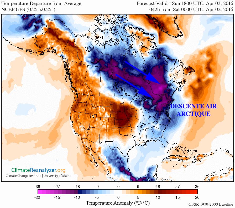 Image d'illustration pour Vague de froid tardive en Amérique du Nord