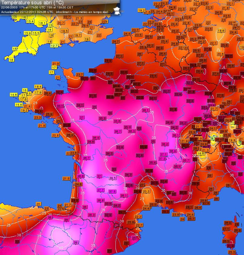 Image d'illustration pour Retour sur les coups de chaleur à la fin juin en France