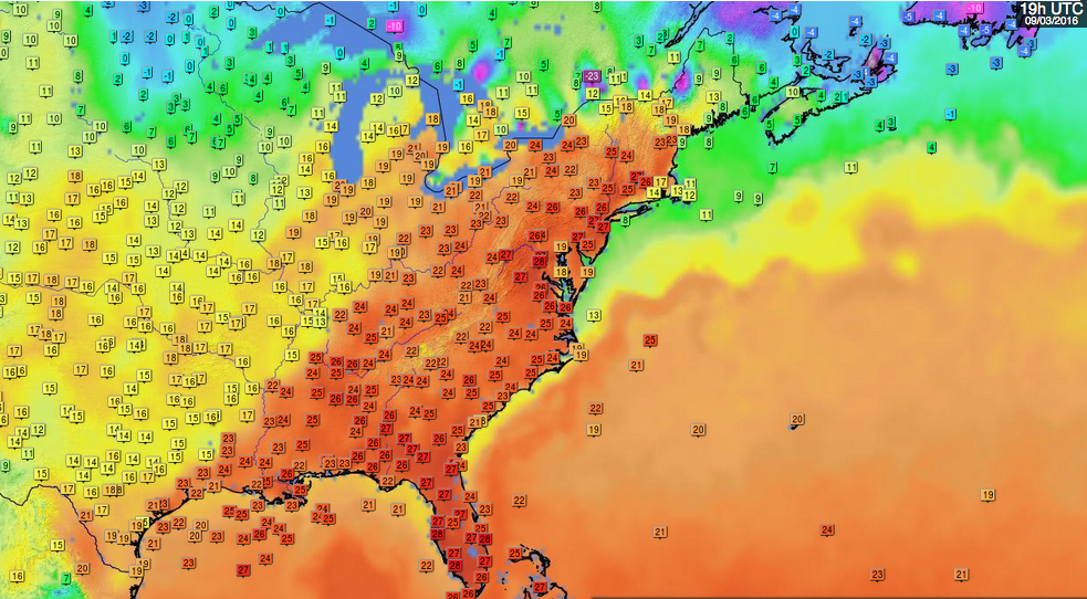 Image d'illustration pour Chaleur précoce sur l'Est des Etats-Unis