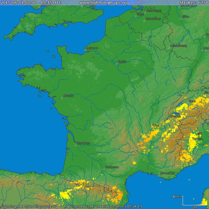 Image d'illustration pour Orages pluvieux en Ardèche (Rhône-Alpes)