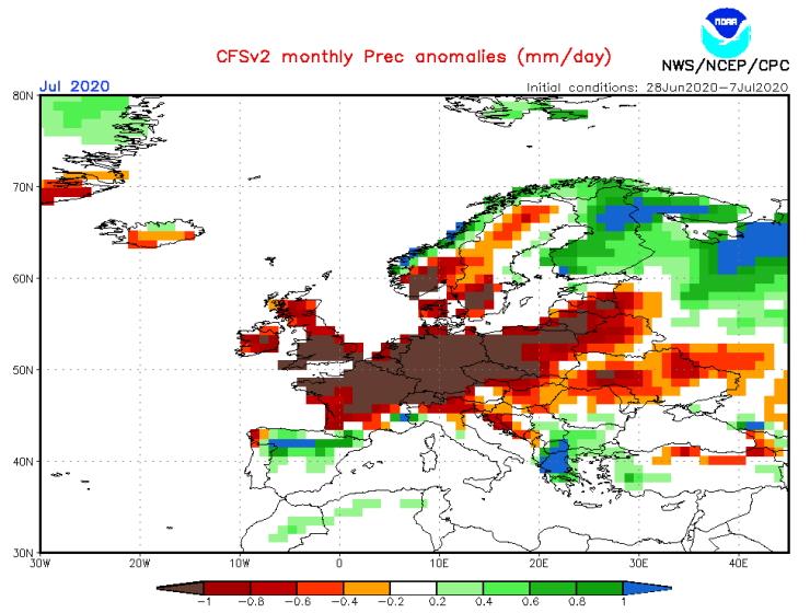 Image d'illustration pour Point complet sur le risque de sécheresse pour la suite de l'été