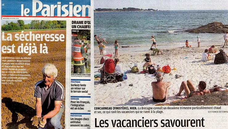 Image d'illustration pour Retour sur les sécheresses au mois d'avril en France