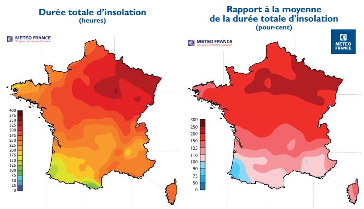 Image d'illustration pour Retour sur les périodes de temps estival au mois d'avril