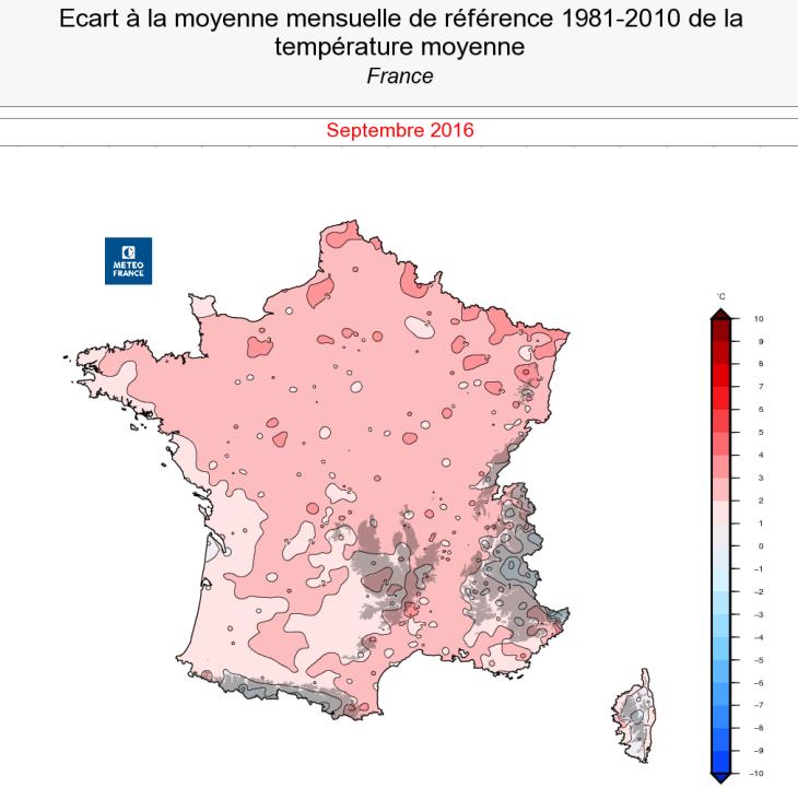 Image d'illustration pour Bilan cartographié d'un septembre très doux et trop sec
