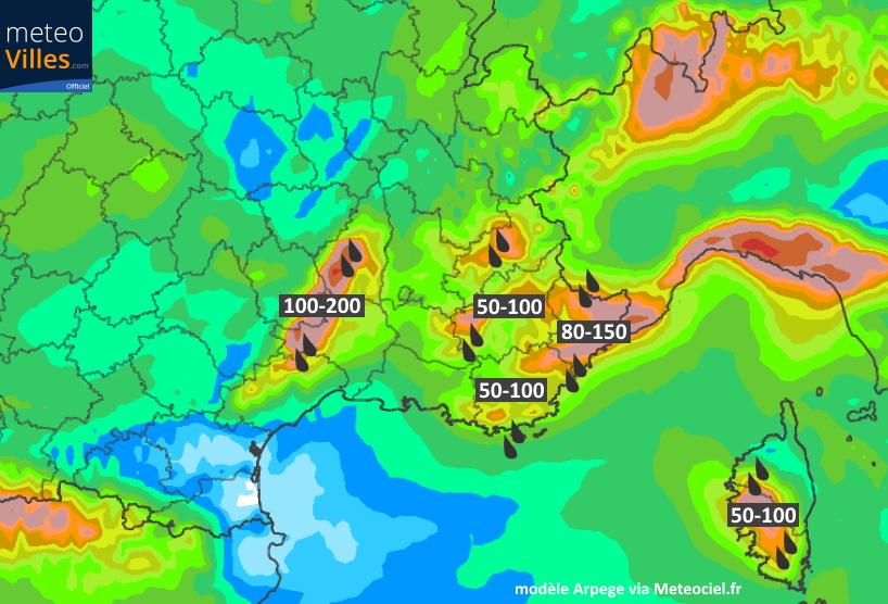 Image d'illustration pour Nouvelles intempéries et risques d'inondations au sud-est vendredi