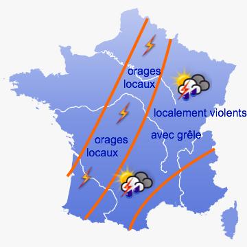 Image d'illustration pour Risque de violents orages pour jeudi