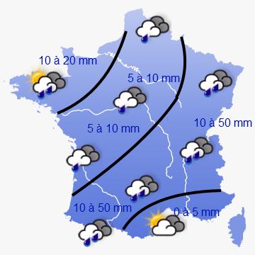 Image d'illustration pour Week-end plutôt maussade, sauf au Sud-est