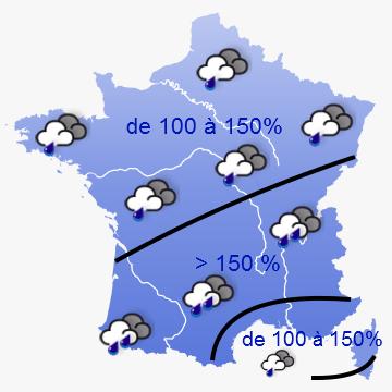 Image d'illustration pour Fortes pluies depuis avril et disparition de la sécheresse