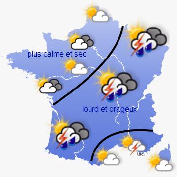 Image d'illustration pour Chaleur orageuse cette semaine des Pyrénées aux Alpes et à l'Alsace