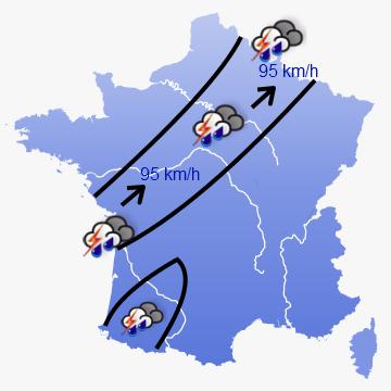 Image d'illustration pour Les violents orages de la nuit de dimanche à lundi