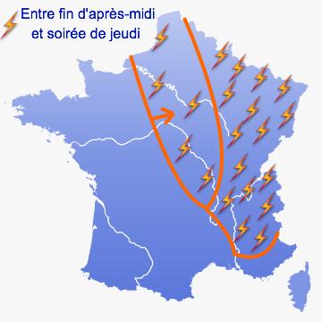 Image d'illustration pour Alerte aux orages pour jeudi 21 juin 2012