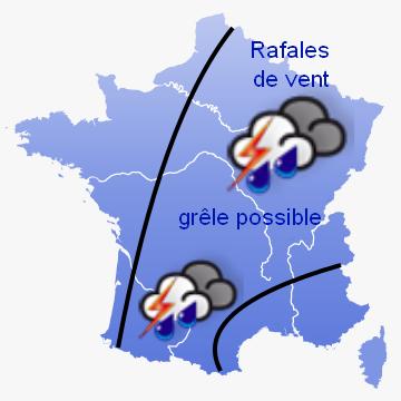 Image d'illustration pour Alerte orages en France jusqu'à samedi 28 juillet 2012