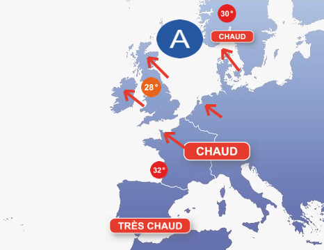 Image d'illustration pour Vague de chaleur en Europe du Nord