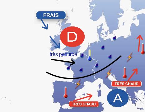 Image d'illustration pour Un début juillet 2012 automnal sur la France