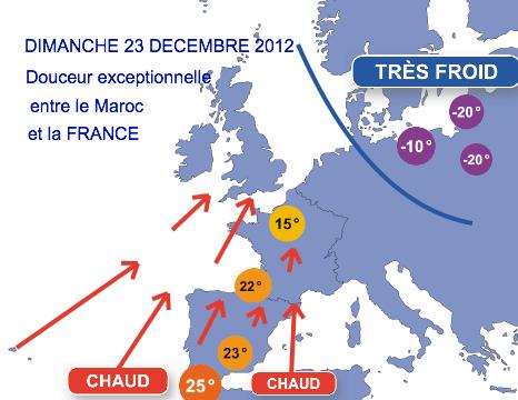 DOUCEUR EXCEPTIONNELLE DIMANCHE 23 DECEMBRE 2012