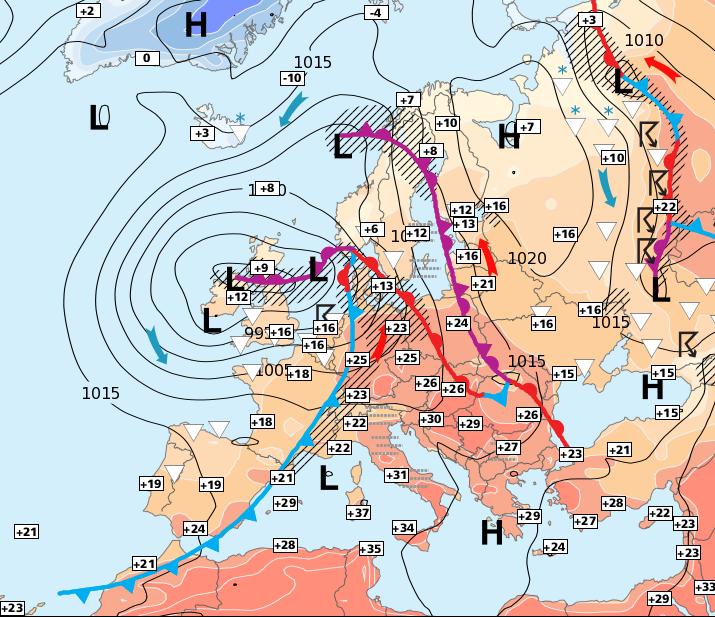 Image d'illustration pour Records de chaleur en Sardaigne - Tornade en Allemagne