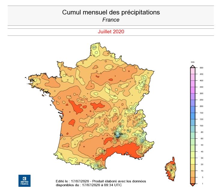 Image d'illustration pour Vers le mois de juillet le plus sec en France depuis 1960 ?