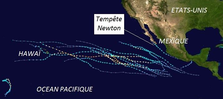 Image d'illustration pour Tempête tropicale Newton entre Mexique et Etats-Unis