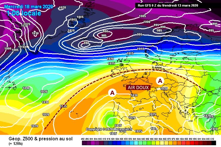 Image d'illustration pour Grand retour de l'anticyclone pour la seconde quinzaine de mars