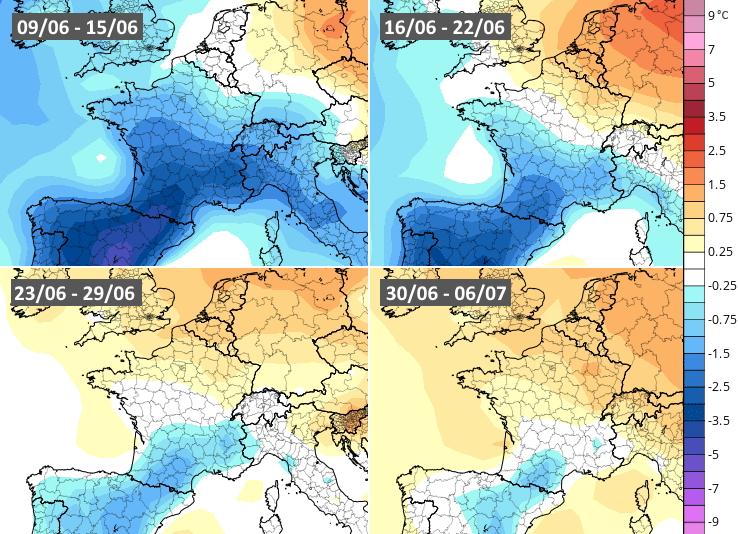 Image d'illustration pour Quelle météo pour la suite du mois de juin en France ?