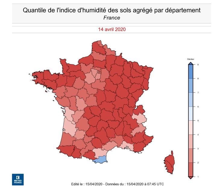 Image d'illustration pour Printemps hors norme et sécheresse s'aggravant en France