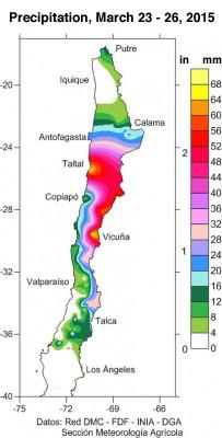 Image d'illustration pour Pluie sur le désert au Chili : dramatiques glissements de terrain - El Nino