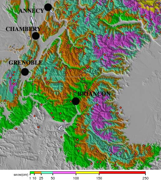 Image d'illustration pour Neige en abondance sur les massifs de l'Est
