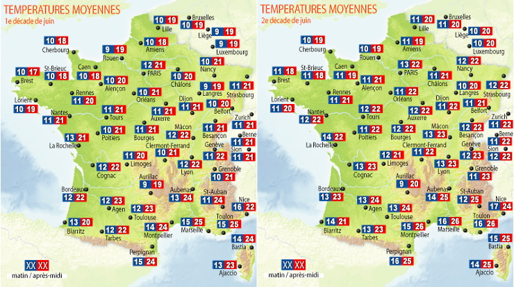Image d'illustration pour Retour sur les premières quinzaines de juin fraîches en France