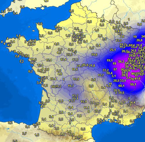 Image d'illustration pour Pluie abondante, inondations et crues sur le Centre de la France