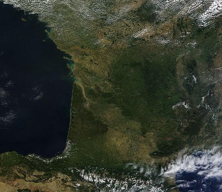 Image d'illustration pour La sécheresse en France vue par satellite