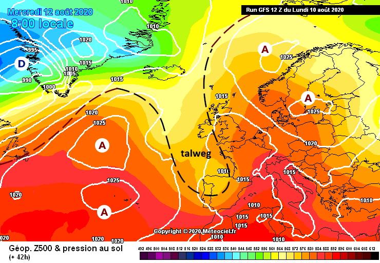 Image d'illustration pour Masse d'air tropicale sur la France et orages difficiles à prévoir