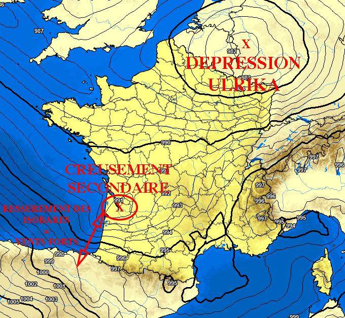 Image d'illustration pour Coup de vent dans le pays Basque dans la nuit de samedi à dimanche