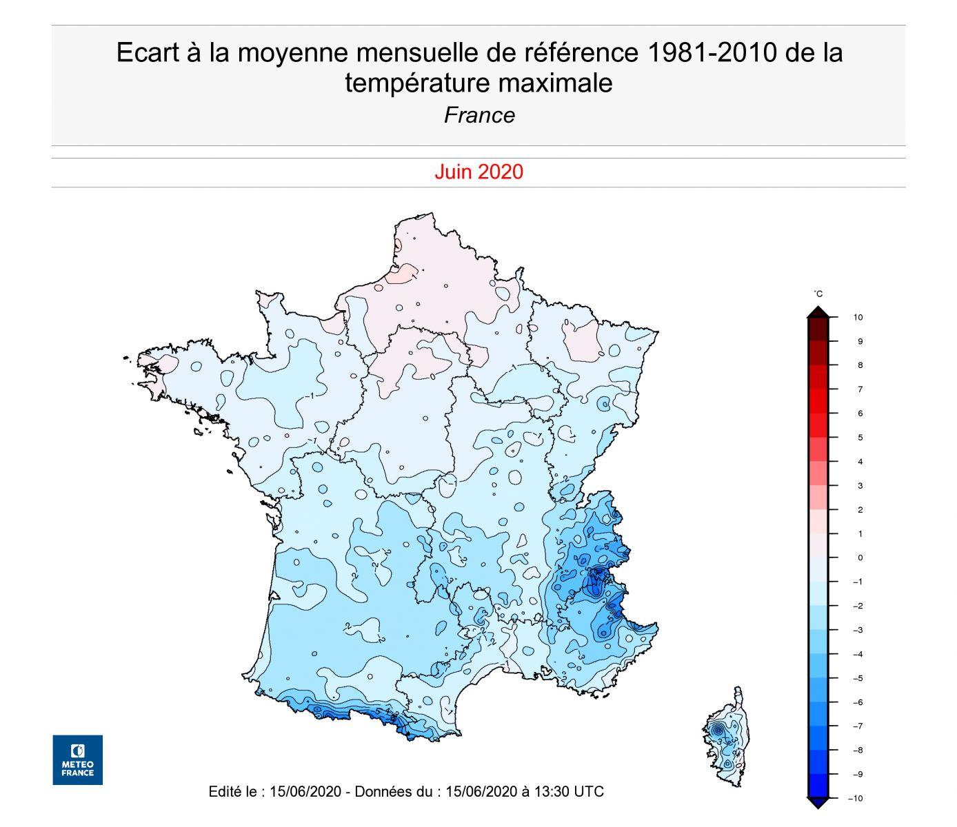 Image d'illustration pour Première quinzaine de juin plus fraîche que la normale en France
