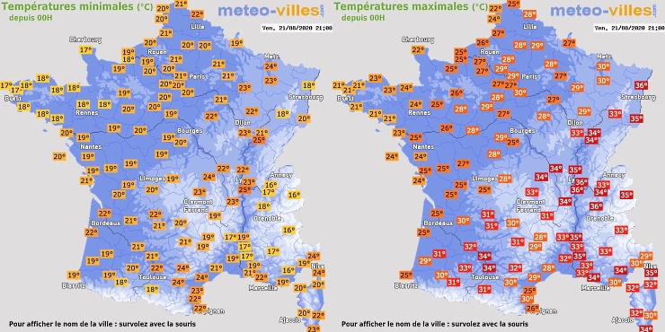 Image d'illustration pour Bilan du coup de chaud en France du 19 au 21 août 2020
