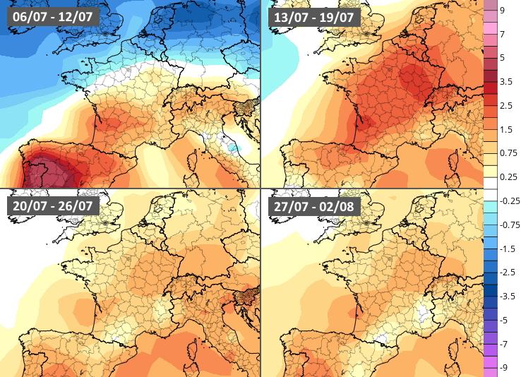Image d'illustration pour Suite du mois de juillet : vers un temps chaud et sec