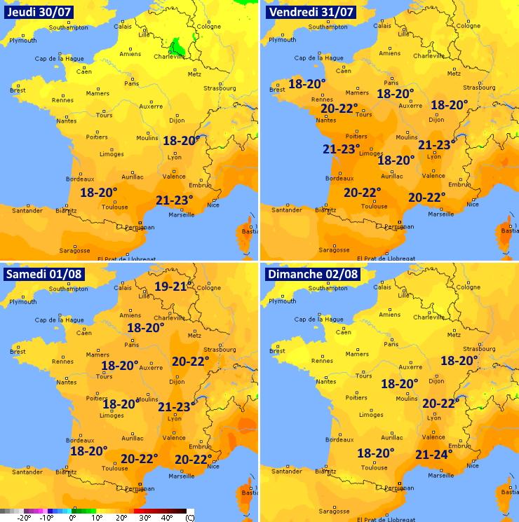 Image d'illustration pour Températures caniculaires sur la France entre jeudi et samedi