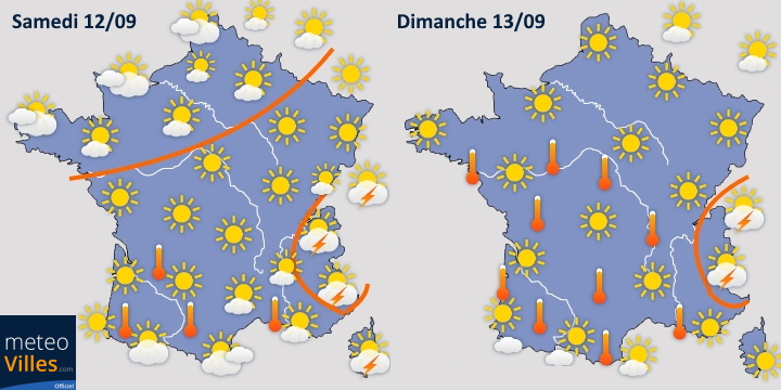 Image d'illustration pour Épisode de fortes chaleurs sur la France à partir du week-end