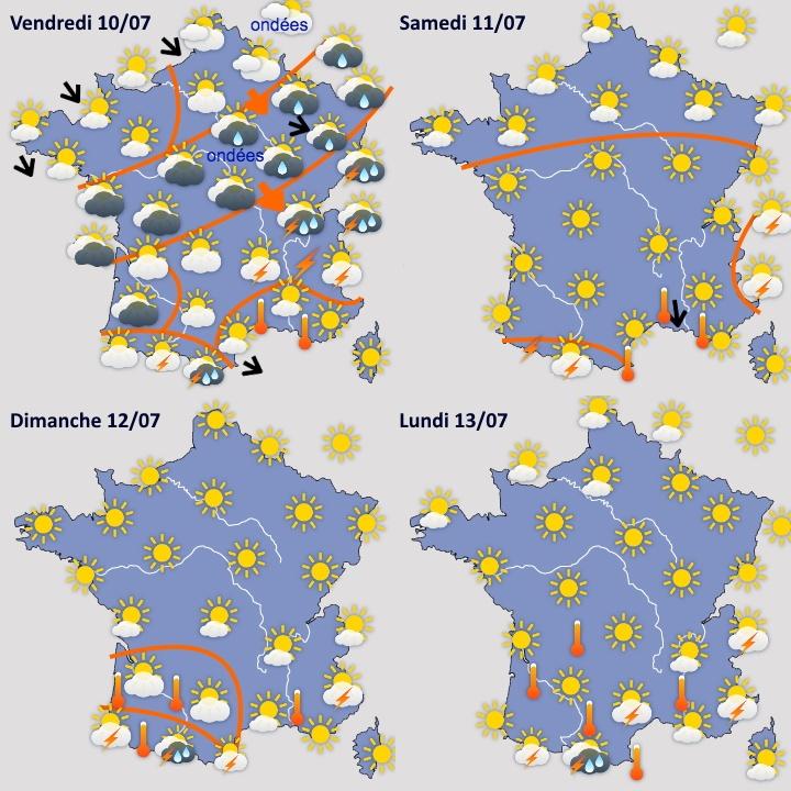 Image d'illustration pour Installation progressivement plus franche de l'été en France